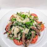 Salat mit Rinderstreifen Hanau